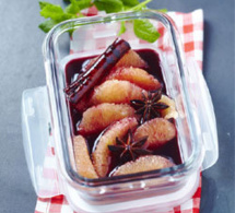 pamplemousse et sirop de vin rouge, une recette de Yannick Alléno