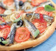 Tarte aux oignons et sardines en conserve aux 2 piments