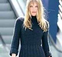 robe tricot au point mousse - explications gratuites