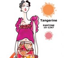 couleur MANDARINE (Tangerine) interprétée par les créateurs