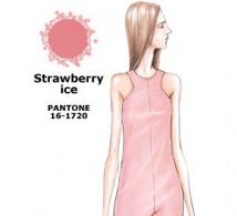 couleur GLACE à la FRAISE (Strawberry Ice) interprétée par les créateurs