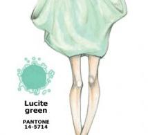 couleur VERT LUCITE (Lucite Green) interprétée par les créateurs