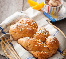 recette sucrée sans gluten : pain brioche tressé aux zestes d'orange