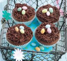 Dessert spécial Pâques : cupcakes nids au chocolat